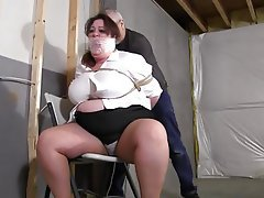 Bbw mistress ties up and milktits