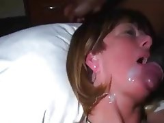 Amateur Blowjob Cumshot Interracial