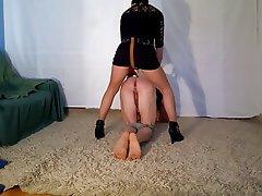 BDSM Femdom Spanish Strapon