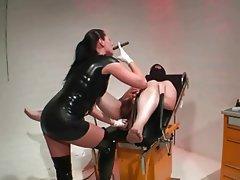 BDSM British Femdom Latex Strapon