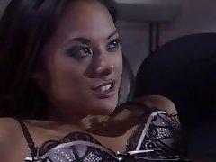 Brunette, Babe, Blowjob, Pornstar, Threesome