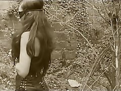 Anal Brunette Latex Outdoor
