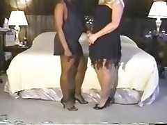 Creampie Interracial MILF Threesome