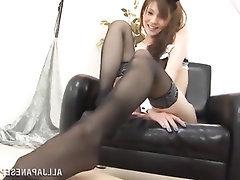 Asian Feet Fetish Stockings