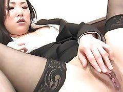 Asian Japanese Masturbation Stockings