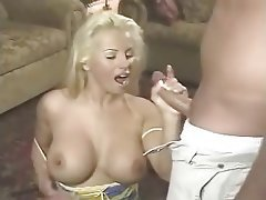 Big Boobs Blonde Handjob