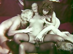 Anal Cumshot Group Sex Interracial Vintage