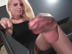 Blonde Stockings Foot Fetish