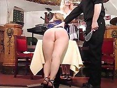 BDSM Blonde Latex Pantyhose