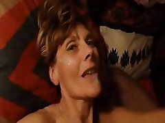 Amateur Blonde Blowjob Facial Mature
