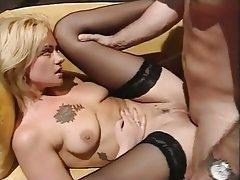 Anal Babe Blonde Hardcore Stockings