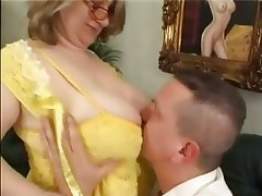 BBW Blowjob Big Boobs Mature