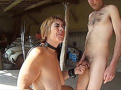 Mature slaves playing