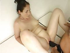 Wife fuck husband with strap on dildo