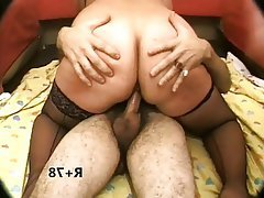 BBW Double Penetration Mature MILF Stockings