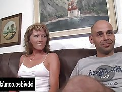 Blonde German Hardcore MILF Threesome