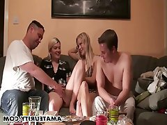 Amateur German Group Sex Teen