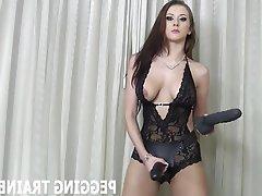 BDSM Bisexual Femdom POV Strapon