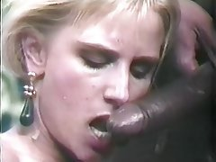 Blowjob, Facial, Interracial, Stockings