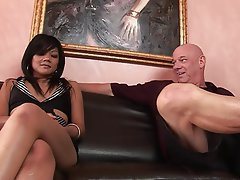 Asian Blowjob Brunette Facial Foot Fetish