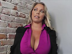 Big Boobs Blonde MILF Pornstar