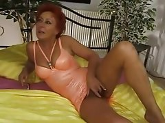 German Mature Old and Young Redhead