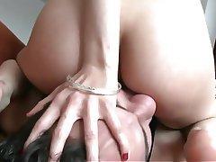 Ass Licking, Brunette, Skinny, Face Sitting, Femdom