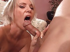 MILF, Blowjob, Big Boobs, Blonde, Facial