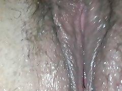 BBW Close Up Hairy Masturbation Squirt