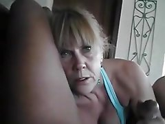 Wrinkly old hag takes black cock outdoors - 2 6