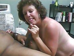 Amateur Interracial Mature Threesome