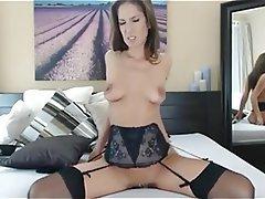 Brunette Masturbation Stockings Webcam