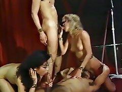 Blowjob, Cumshot, Group Sex, Stockings, Vintage