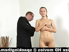 Russian Secretary Skinny Spanking