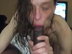 White milf sucks and jerks load of cum into her mouth 2