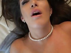 Blowjob, Brunette, MILF, Stockings