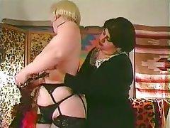 BBW Big Boobs Hairy Lesbian Stockings