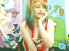 Amateur Cosplay Emo Webcam
