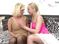 Lesbian seduction office mature
