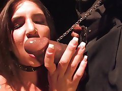Babe Brunette Cumshot Interracial Small Tits