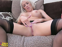 Anal Babe Blowjob Casting Stockings